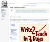 Write 2 Teach in 3 Days