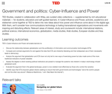 Government and politics: Cyber-Influence and Power