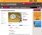 Essential Coding Theory, Fall 2004