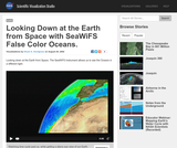 Looking Down at the Earth from Space with SeaWiFS False Color Oceans