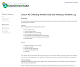 Collecting Weather Data and Keeping a Weather Log
