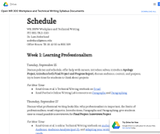 Open WR 300 Workplace and Technical Writing Syllabus Documents