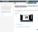 SLASL Module 5: Reflection on Student Work and Feedback, Y3 NC Webinar