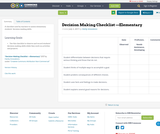 Decision Making Checklist —Elementary