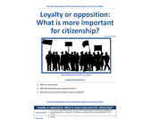 Loyalty or opposition: What is more important for citizenship?