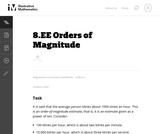8.EE Orders of Magnitude