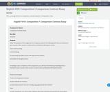 English 1010: Composition 1 Comparison Contrast Essay