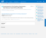 Assessment in 21st Century Classrooms - SSSA (Sub Sahara South Africa) (Moodle)