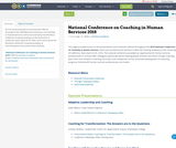 National Conference on Coaching in Human Services 2018