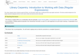 Library Carpentry: Introduction to Working with Data (Regular Expressions)