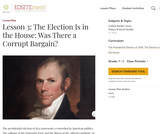 Lesson 3: The Election Is in the House: Was There a Corrupt Bargain?