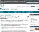 Sound For Music Technology: An Introduction