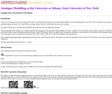 Analogue Microstructural Modeling at the University at Albany, SUNY