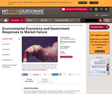 Environmental Economics and Government Responses to Market Failure, Spring 2005
