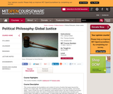 Political Philosophy: Global Justice, Spring 2003