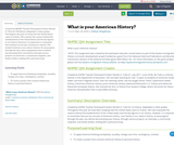 What is your American History?
