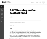 8.G.7 Running on the Football Field