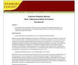 Freshman Statistics Seminar - Week 11: Mathematical Models for Prediction