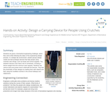 Design a Carrying Device for People Using Crutches