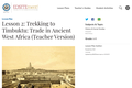 Lesson 2: Trekking to Timbuktu: Trade in Ancient West Africa (Teacher Version)