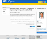 Mechanical and Aerospace Engineering 10: Introduction to Engineering Computations (English)