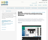 SLASL Module 2: Text-based Questioning Webinar
