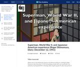 Superman, World War II, and Japanese-American experience (Roger Shimomura, Diary: December 12, 1941)