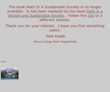 Math in a Sustainable Society