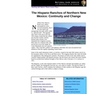 The Hispano Ranchos of Northern New Mexico: Continuity and Change