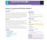 CS Principles 2019-2020 3.9: Looping and Random Numbers