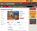 Managerial Psychology, Fall 2006