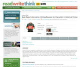 Book Report Alternative: Writing Resumes for Characters in Historical Fiction