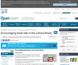 Encouraging book talk in the school library
