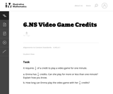 Video Game Credits