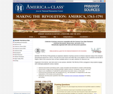Making the Revolution, America 1763-1791: Primary Sources
