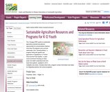 Sustainable Agriculture Resources and Programs for K-12 Youth