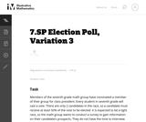 Election Poll, Variation 3
