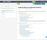 Authentic Resources: Spanish: Activities