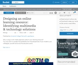 Designing an online learning resource: Identifying multimedia technology solutions