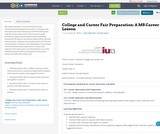 College and Career Fair Preparation: A MS Career Lesson
