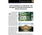 From Canterbury to Little Rock: The Struggle for Educational Equality for African Americans