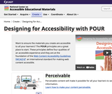 Designing for Accessibility with POUR