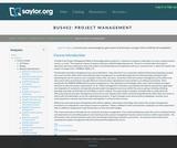 Project Management (Business 402)