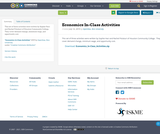 Economics In-Class Activities