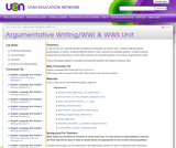 Argumentative Writing/WWI & WWII Unit