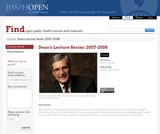 Dean's Lecture Series: 2007-2008