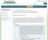 Alternative Fuels First Responder Training Modules