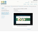 How to Create a Profile in OER Commons