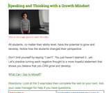 Perseverance and Growth Mindset