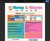 Romp & Rhyme Storytime Parent Activity Sheet: Hooray for Snow!